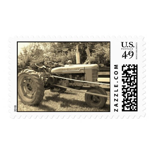 Old Tractor Postage Stamps