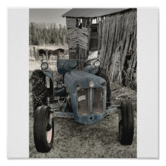 old tractor poster