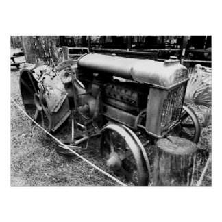 Old tractor print