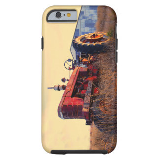 old tractor red machine vintage tough iPhone 6 case