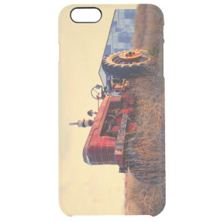 old tractor red machine vintage clear iPhone 6 plus case