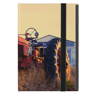 old tractor red machine vintage cover for iPad mini