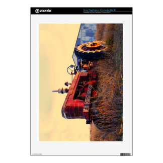 old tractor red machine vintage decal for PS3