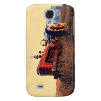 old tractor red machine vintage galaxy s4 cover