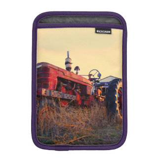 old tractor red machine vintage sleeve for iPad mini