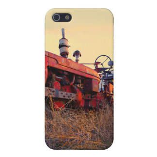 old tractor red machine vintage iPhone SE/5/5s cover