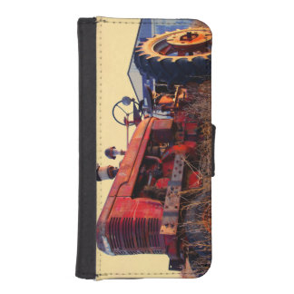 old tractor red machine vintage iPhone SE/5/5s wallet case