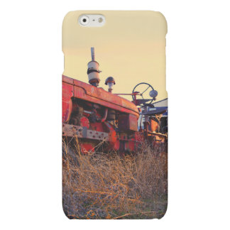old tractor red machine vintage matte iPhone 6 case