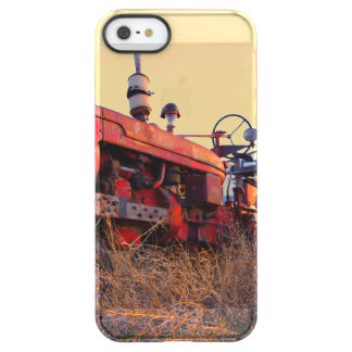 old tractor red machine vintage permafrost iPhone SE/5/5s case