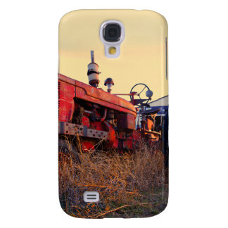 old tractor red machine vintage samsung galaxy s4 cover