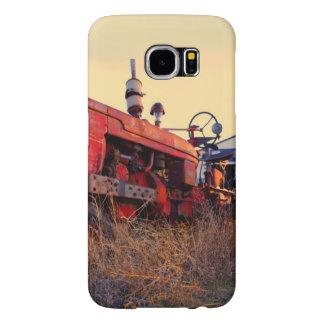 old tractor red machine vintage samsung galaxy s6 case