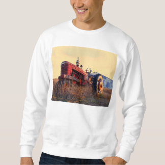 old tractor red machine vintage sweatshirt