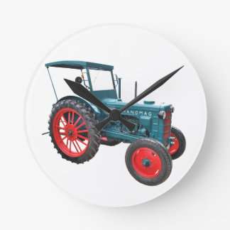Old tractor round clock