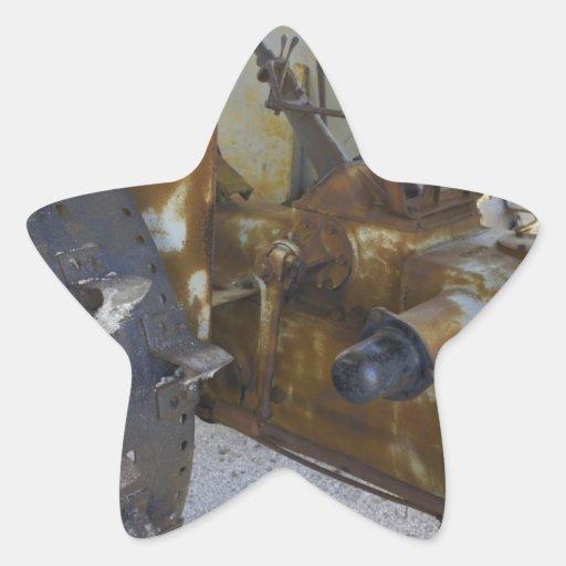 Old Tractor Star Sticker