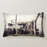 Old Tractor Throw Pillow