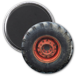 Old Tractor Tire Magnet