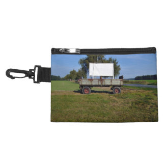 Old Tractor Trailer on a Green Field Accessory Bag