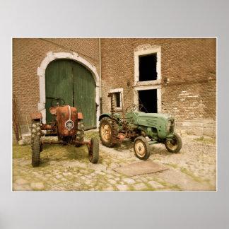 Old Tractors Canvas Print