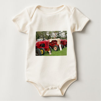 Old tractors farm machinery 2 baby bodysuit