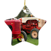 Old tractors farm machinery 2 ceramic ornament