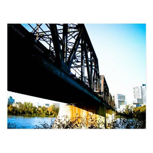 Old train Bridge Postcard