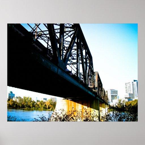 Old train Bridge Poster