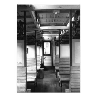 Old train compartment photo print
