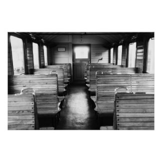 Old train compartment print