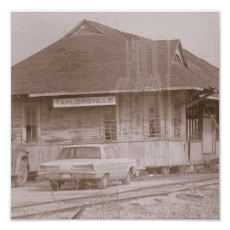Old Train Depot Taylorsville Mississippi USA Poster