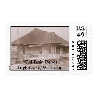 Old Train DepotTaylorsville, Miss.... Postage