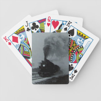 Old Train Locomotive Bicycle Playing Cards