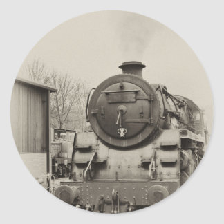 Old Train Station Classic Round Sticker
