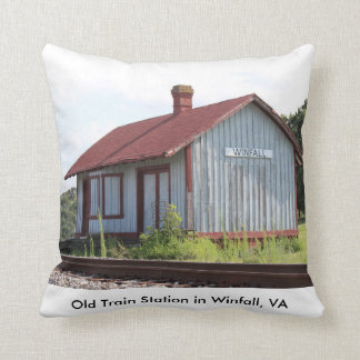 Old Train Station Throw Pillows