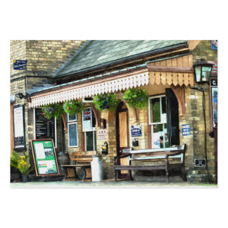 OLD TRAIN STATIONS UK LARGE BUSINESS CARD