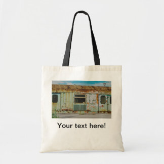 Old train tote bag