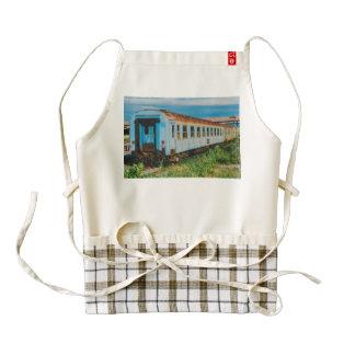 Old train zazzle HEART apron