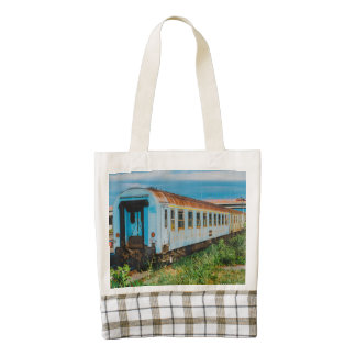 Old train zazzle HEART tote bag