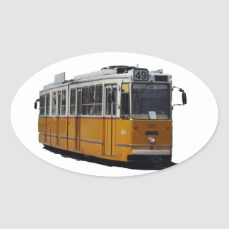 Old Tram Oval Sticker