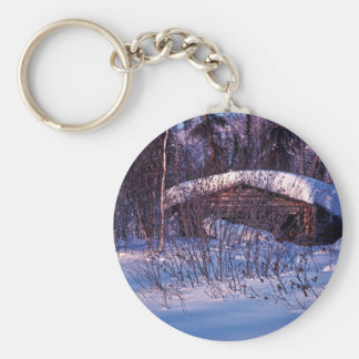 Old Trapper s Cabin Keychains