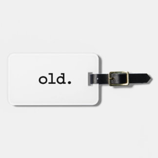 old. travel bag tags
