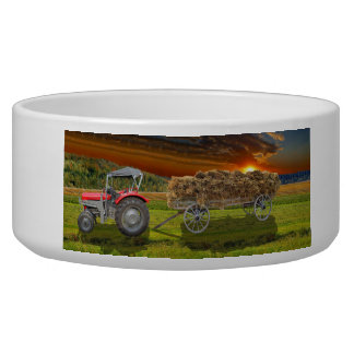 Old Trecker and hay car Bowl