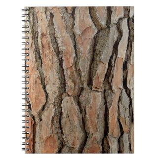 Old tree bark texture notebook