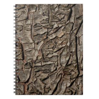 Old tree bark texture spiral notebook