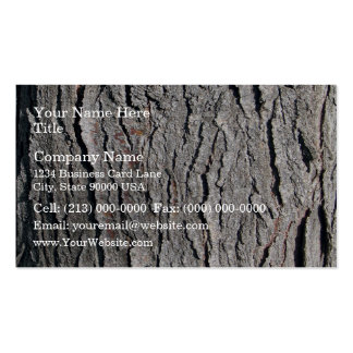 Old tree bark vertical texture business card
