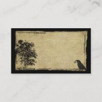 Old Tree, Crow & Star- Prim Biz Cards