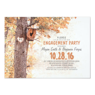 old tree rustic country engagement party invites