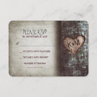 Old tree rustic wedding RSVP cards