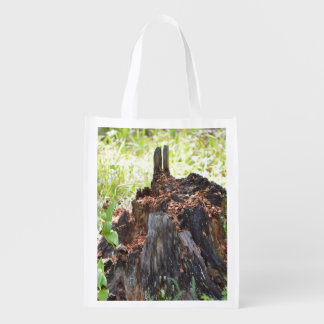Old Tree Stump Grocery Bags