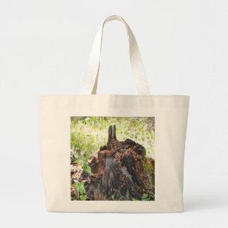 Old Tree Stump Large Tote Bag