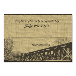 Old Trestle Bridge Wedding Response Card